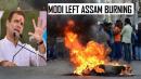 Modi leaves Assam burning, Rahul Gandhi targets govt for anti CAB protest