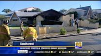House fire started in converted garage bedroom