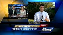 West Palm Beach mobile home catches fire