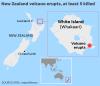Newlyweds burned by volcanic eruption on New Zealand honeymoon cruise