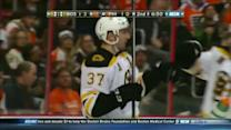 Patrice Bergeron cleans up a juicy rebound
