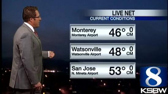 Get Your Tuesday KSBW Weather Forecast 4.02.13