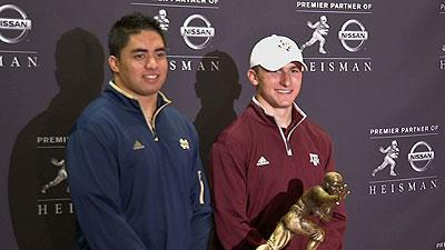 Heisman hopes for Te'o and Manziel