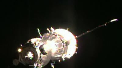Soyuz Spacecraft Docks With Int'l Space Station