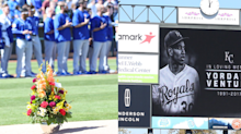 Adrian Beltre, Carlos Gomez honored Yordano Ventura by placing flowers on pitching mound
