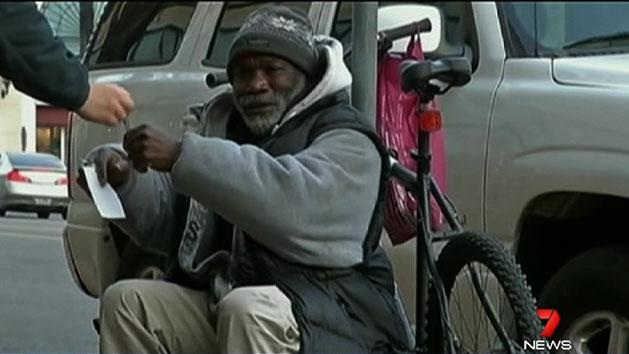 Homeless man's good karma