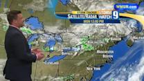 Thunderstorms possible in NH on Monday