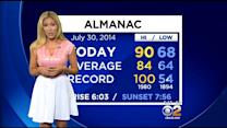 Jackie Johnson's Weather Forecast (July 30)