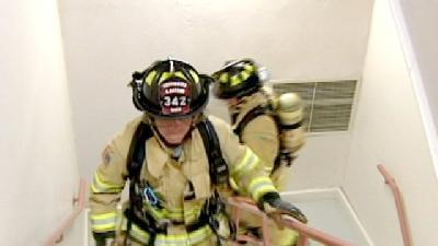 Firefighters To Struggle Up Liberty Stairs For Better Breathing