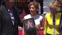 Jennifer Lopez Gets Star on Hollywood Walk of Fame