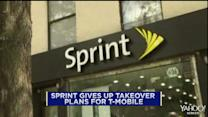 Sprint gives up takeover plans for T-Mobile