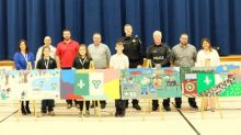 CP Police join Notre Dame Elementary School students in kicking off Rail Safety Week