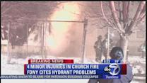 Queens church goes up in flames