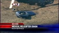 Crew members recovering after helicopter crash