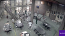 Prison fight caught on camera