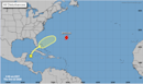 A Caribbean system is forecast to bring rain to South Florida, and Epsilon back to Cat 2