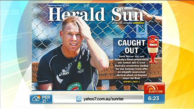 David Warner involved in fight