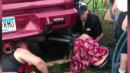 Woman Gets Head Stuck In Exhaust Pipe