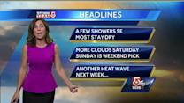 Cindy Fitzgibbon's latest Boston area forecast