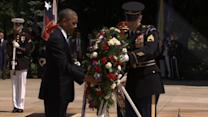 President Obama lays wreath at Arlington National Cemetery