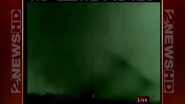 Chasers get really close to tornado