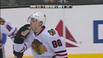 Patrick Kane beats Quick five-hole on the PP