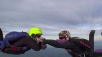 Man Proposes to Girlfriend During Skydive Freefall