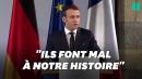 """Traité d'Aix-la-Chapelle: Macron condamne """"les mensonges"""""""
