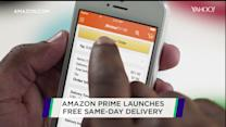 Amazon Prime launches free same-day delivery