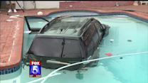 SUV Driven By 67-Year-Old Woman Plunges Into Swimming Pool