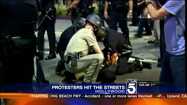 Protesters Clash With LAPD After George Zimmerman Verdict