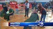 Students shave heads in show of support