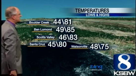 Watch Your KSBW Weather Forecast 06.13.13