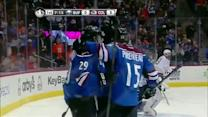 MacKinnon sets up Landeskog for a goal