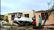 RAW: Tornado Slams Mexican Border Town