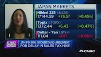 Ramifications of a delay in Japan's sales tax increase