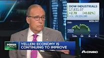 Kudlow: I disagree with Yellen's economic assessment