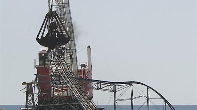 Watch: Iconic roller coaster demolition in N.J.