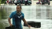 Raw: Flooding Alert Ahead of US Match in Brazil