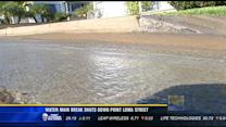 Water main break shuts down Point Loma street