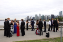 Justin Trudeau runs past group of prom goers, stops for the ultimate selfie