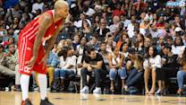 Rihanna Sits Courtside As Chris Brown Plays In Charity Basketball Match And Looks Seriously Unimpressed