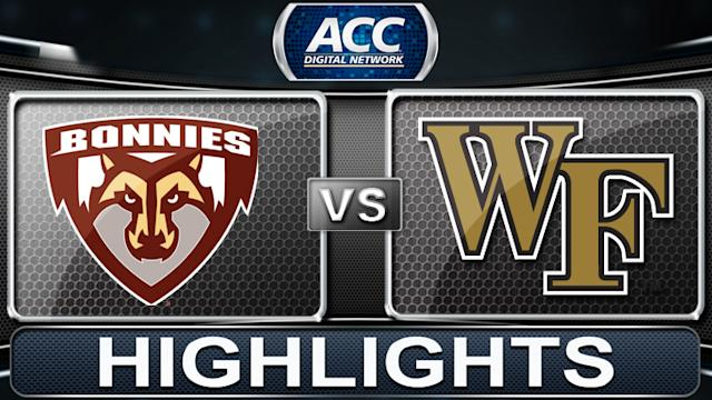 St. Bonaventure vs Wake Forest | 2013 ACC Basketball Highlights