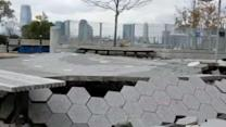 Lower Manhattan playground reopens after Superstorm Sandy.