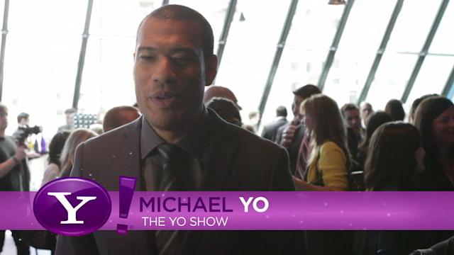 Michael Yo, host of The Yo Show, at the Yahoo! Newfront
