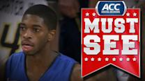 Duke's Amile Jefferson Goes High Off the Glass for Miraculous Shot | ACC Must See Moment
