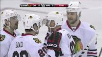 Hossa battles and Saad one times it in