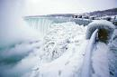 Parts of Niagara Falls have frozen over in a stunning winter spectacle
