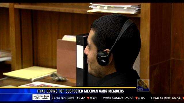 Trial begins for suspected Mexican gang members