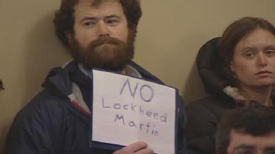 Protesters Say 'No Deal' To Lockheed Martin